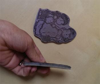rubber stamps montati