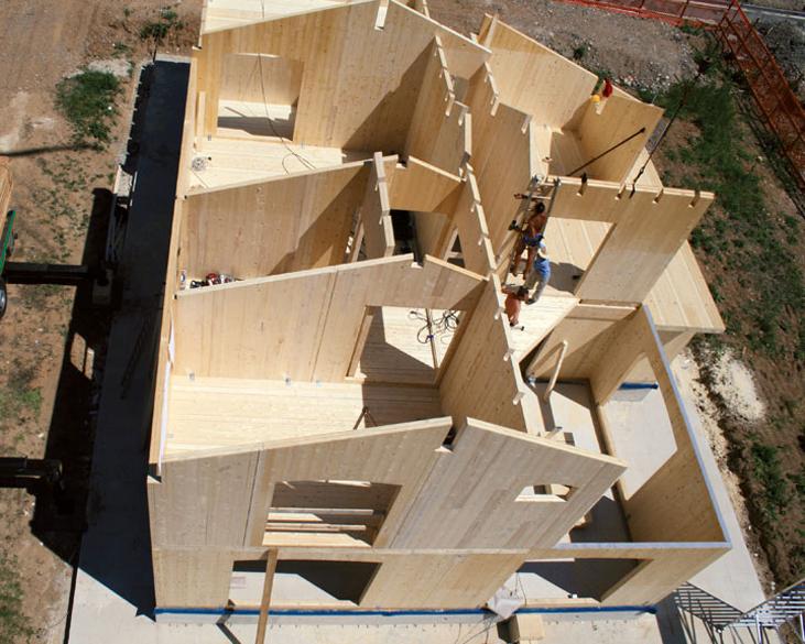 Le tipologie di una casa di legno infoperte for Case legno xlam
