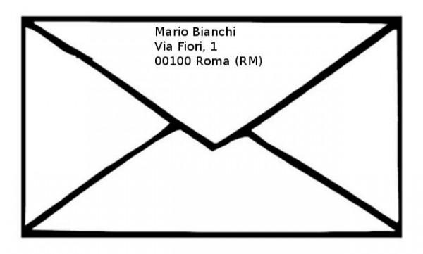 Famoso Come compilare una busta da lettera | Infoperte TD51