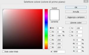 Selettore colore - Photoshop CC