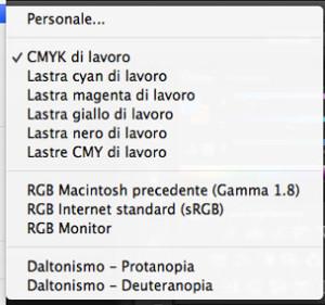 finestra prova colore - Photoshop CC