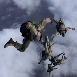 Paracdutista, cadere dalle nuvole, nuvole