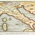 Map of Italy by Sebastian Munster, 1600