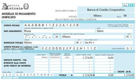 Codice tributo 3813 infoperte for Codice fiscale da stampare
