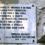 L'opera in marmo dedicata a Felice Serisso