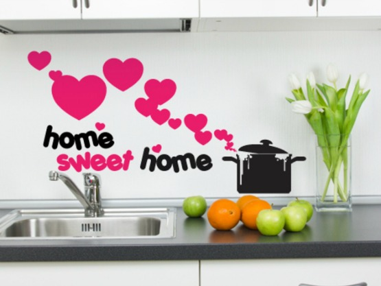 Stickers muro fai da te infoperte for Stencil parete cucina