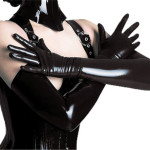 48-50CM-Women-Shiny-Spandex-PVC-Sexy-Catwoman-Gloves-Scary-Halloween-Long-Leather-Glove-For-Show