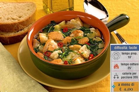 pancotto pugliese con indicazioni su costo,calorie e difficoltà nel realizzare la ricetta
