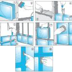 procedura illustrata per creare una parete  in vetrocemento