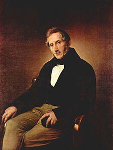 Alessandro Manzoni in un ritratto di Francesco Hayez (Pittore Italiano)